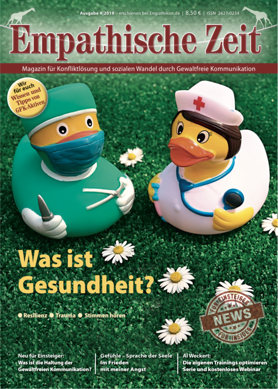 "Empathische Zeit 4/19: ""Was ist Gesundheit?"" - What is health? In German Language"
